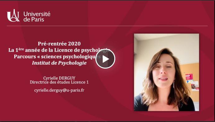Présentation de pré-rentrée L1 de Psychologie