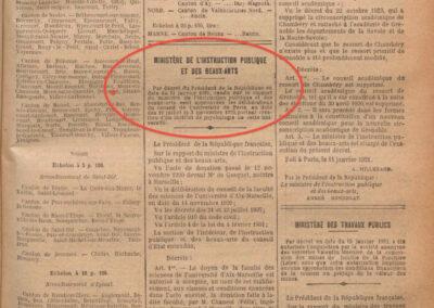 Institut création JO 1921