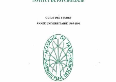 Guides des Etudes 1995-1996