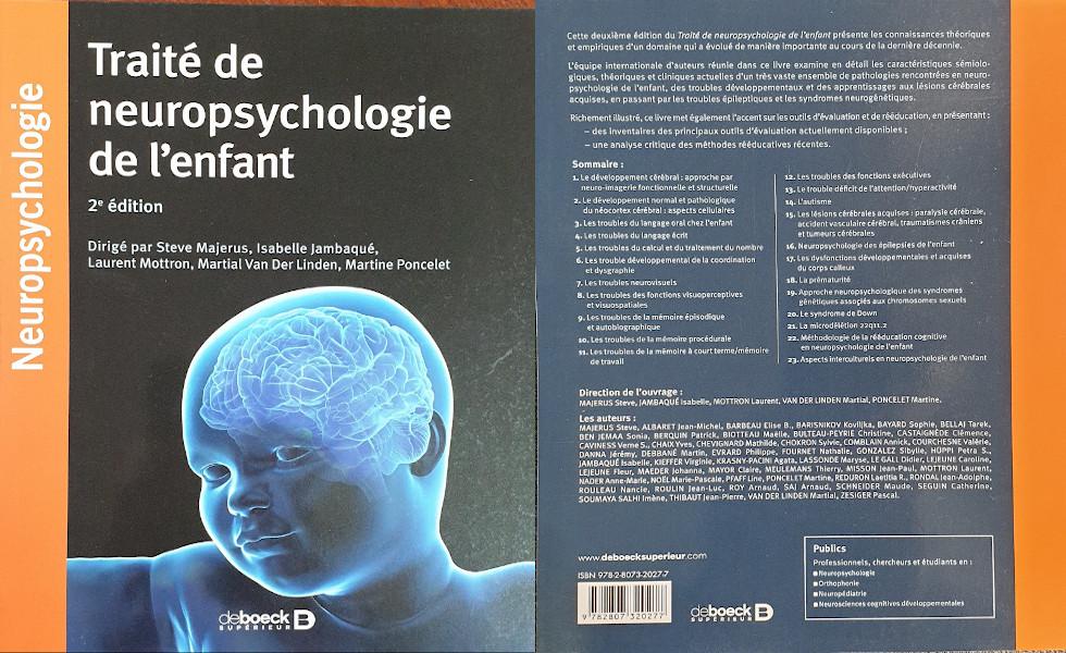 Parution d'un ouvrage en Neuropsychologie