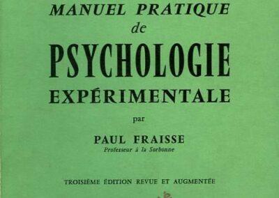 Fraisse_Manuel de psychologie expérimentale