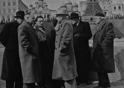 Paul Fraisse_Jean Delay_Jean Piaget_Moscou 1955