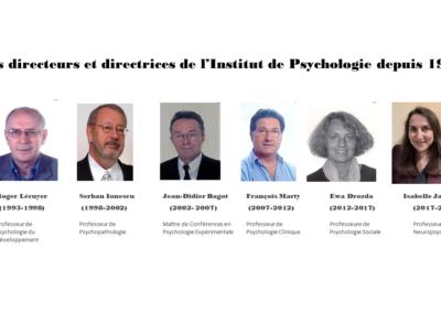 Directeur.trice.s Institut de Psychologie depuis 1993