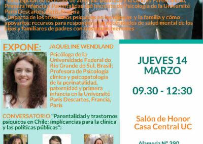 J Wendland professeure invitée Université Catholique de Santiago du Chili - Mars 2019