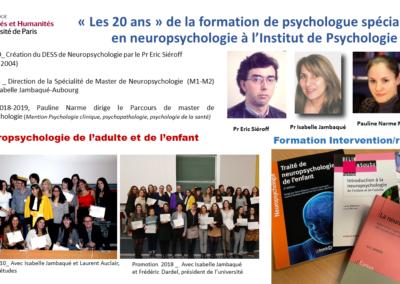 Les 20 ans du master de neuropsychologie