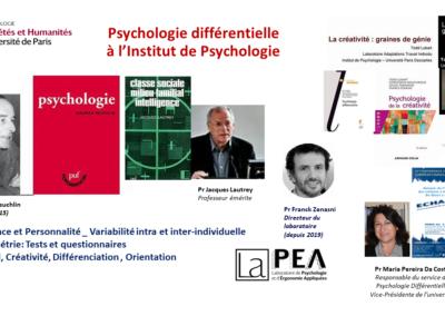 Psychologie différentielle à l'Institut de Psychologie