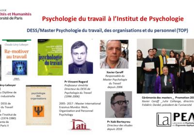 Psychologie du travail à l'Institut de PsychologieV5
