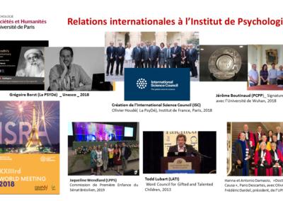 Relations internationales Institut de Psychologie