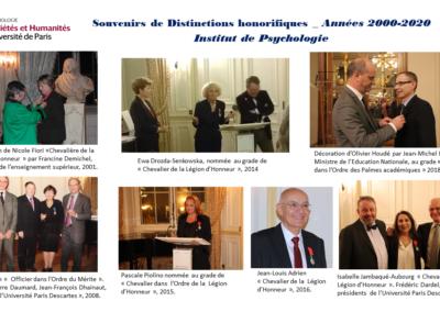 Souvenirs Distinctions 2000-2020