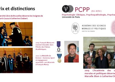 PCPP Prix et distinctions Centenaire Institut de Psychologie