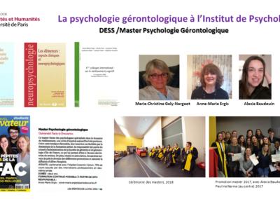 Psychologie gerontologique - Institut de Psychologie